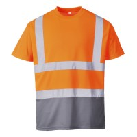 T-shirt bicolore orange / gris PORTWEST